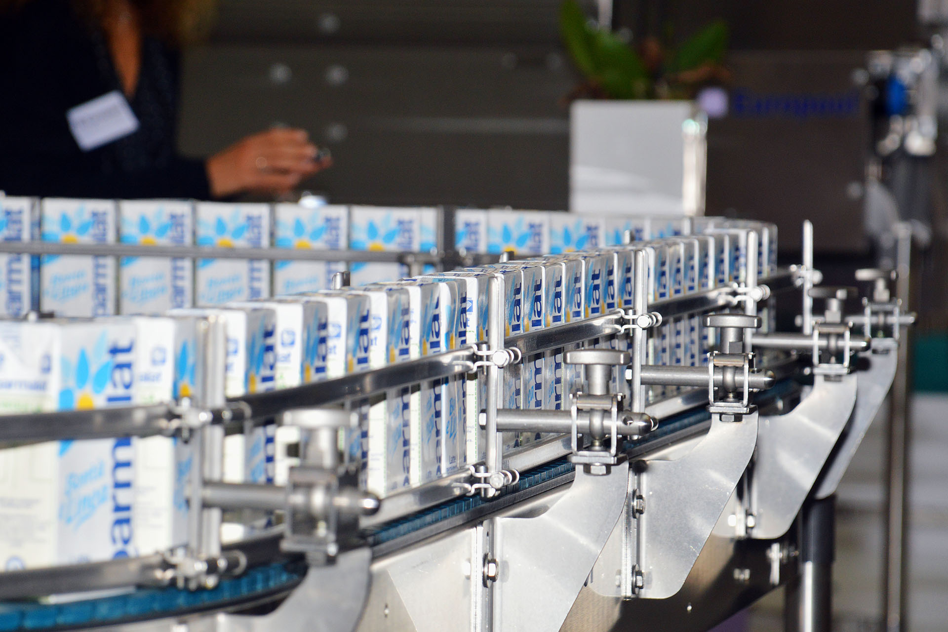 Cartons on a conveyor system